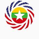 Myanmar American Multinational Patriot Flag Series by Carbon-Fibre Media