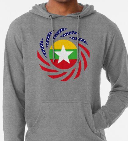 Myanmar American Multinational Patriot Flag Series Lightweight Hoodie
