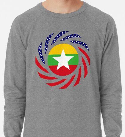 Myanmar American Multinational Patriot Flag Series Lightweight Sweatshirt