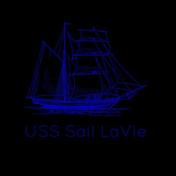USS Sail LaVie Funny Play On Words Sailing Sail Boat Boating Design by mrkprints