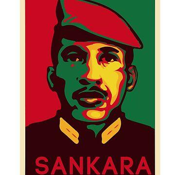 Colorful Thomas Sankara by Nkioi