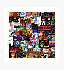 Musicals Collage II Art Print