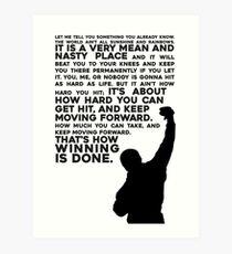 Rocky Motivation Art Print