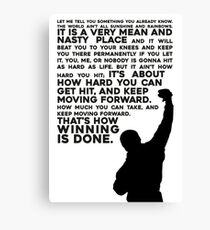 Rocky Motivation Canvas Print