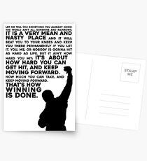 Rocky Motivation Postcards