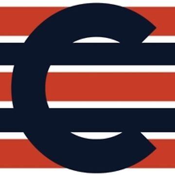 Chicago Bears: Stripes V2 by SkipHarvey