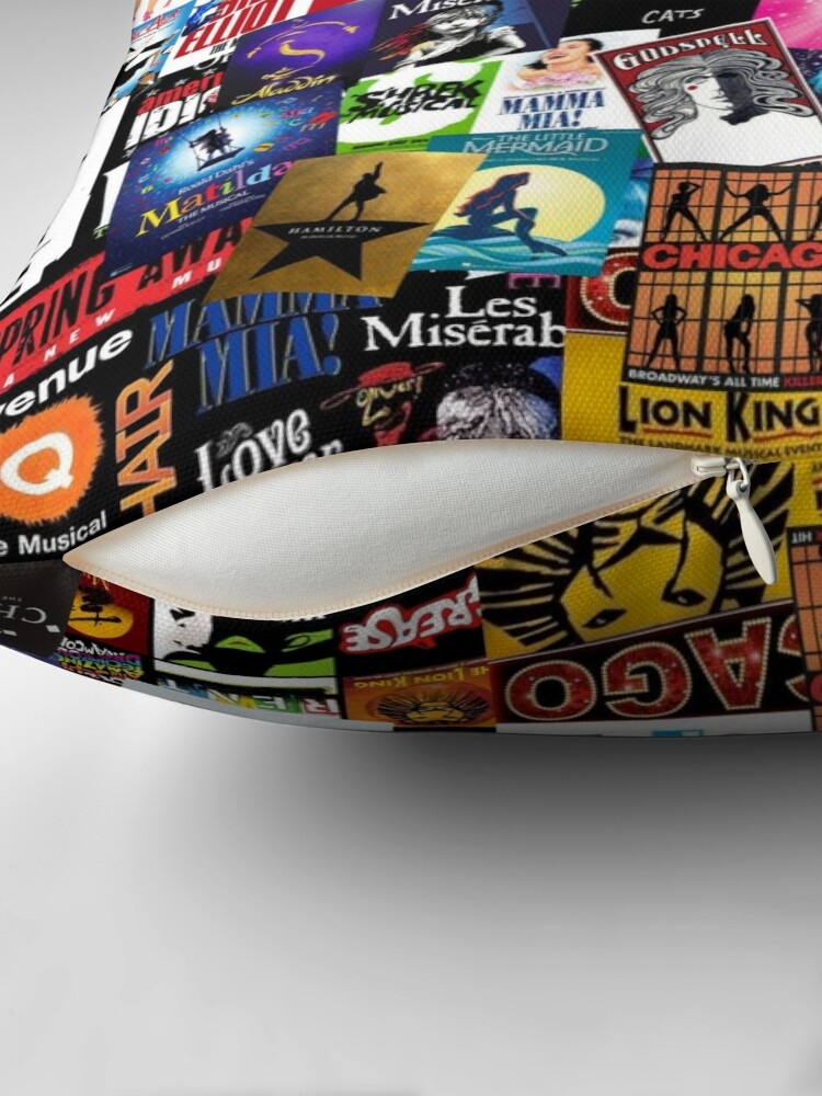 Alternate view of Musicals Collage II Throw Pillow