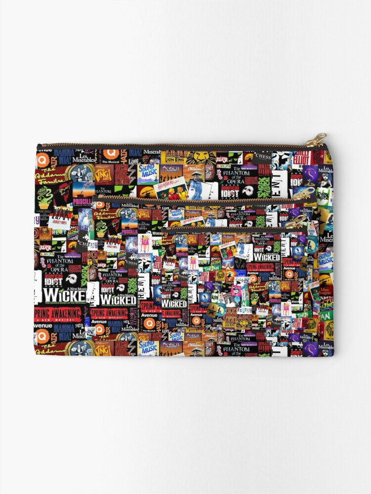 Alternate view of Musicals Collage II Zipper Pouch