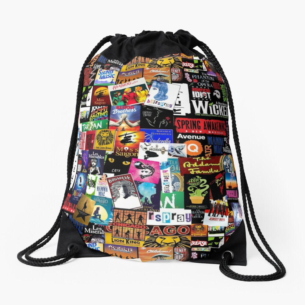 Musicals Collage II Drawstring Bag
