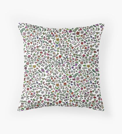 Flowers Are Everywhere Throw Pillow
