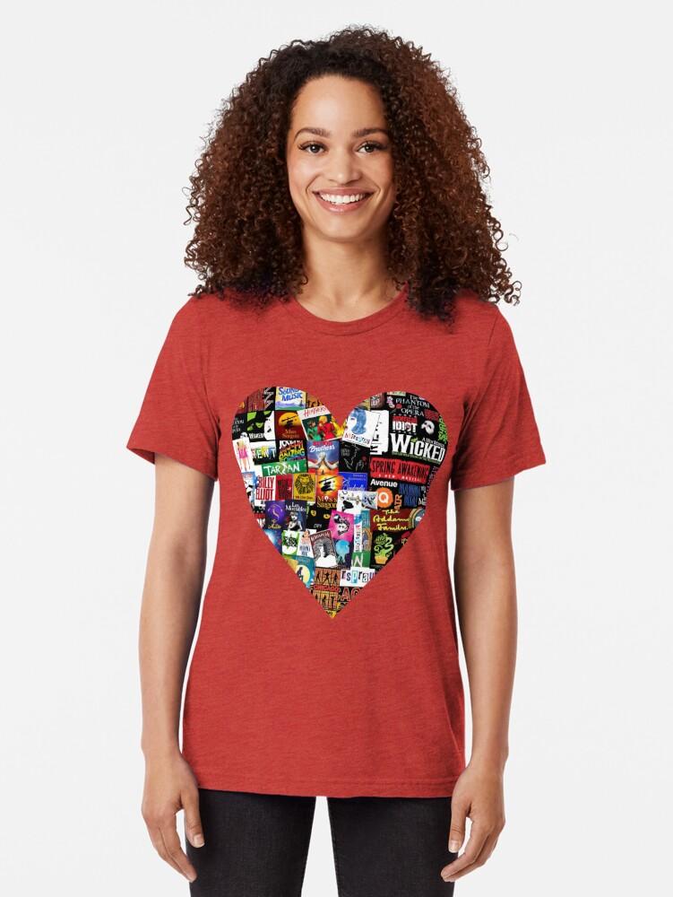 Alternate view of Musicals Collage II Tri-blend T-Shirt