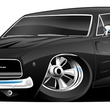 Classic 60's American Muscle Car Cartoon by hobrath