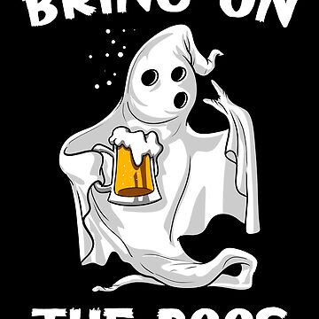 Ghost Beer Drinking Halloween Party Funny Bring On The Boos by underheaven