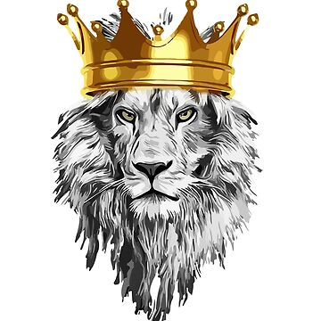 lion with a crown power king by mcko2704