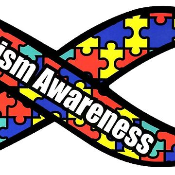 AUTISM awareness ribbon by thatstickerguy