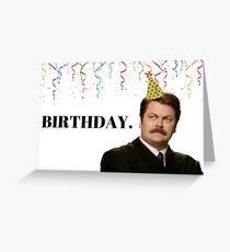 Geburtstag. Parks und Rec Geburtstagskarte, Ron Swanson, Meme-Grußkarten Grußkarte