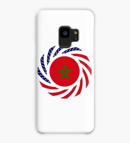Moroccan American Multinational Patriot Flag Series Case/Skin for Samsung Galaxy