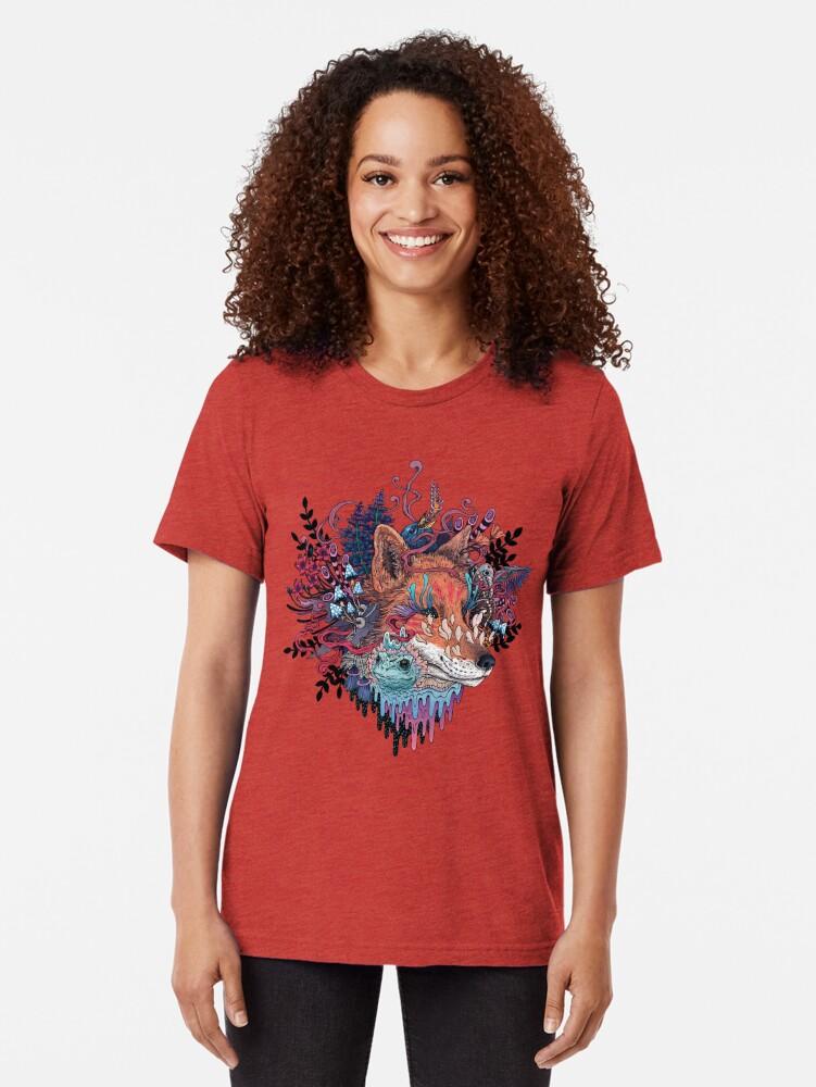 Alternate view of Envoy (Kitsune) Tri-blend T-Shirt