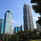 Shanghai Skyline by daytona235