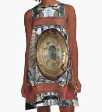 Steampunk: Imaginary Airship Control Panel #Steampunk #Imaginary #Airship #Control #Panel #ImaginaryAirship #ControlPanel A-Line Dress