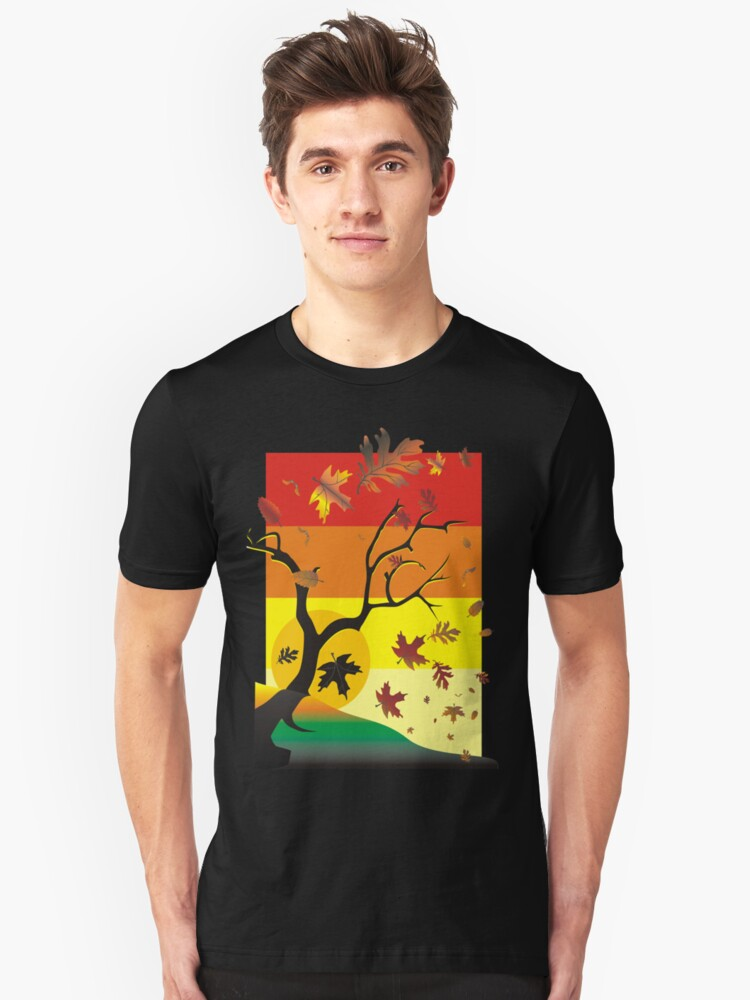 Fall - Autumn Scene Unisex T-Shirt Front