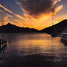 Queenstown Harbour at Sunset by Yukondick