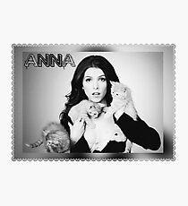 Anna Kendrick Kittens Poster Photographic Print