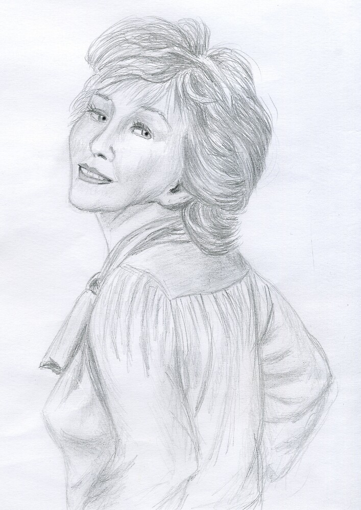 From a photo of Patricia Hodge by MayWebb