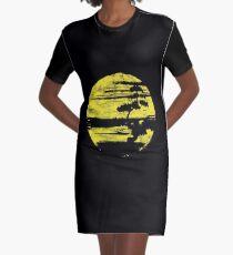Japanisches Bonsai-Baum-T-Shirt grafischer Bonsais-Liebhaber-Gelb Sun Distressed T-Shirt Kleid