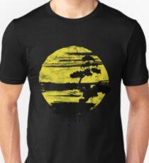 Japanisches Bonsai-Baum-T-Shirt grafischer Bonsais-Liebhaber-Gelb Sun Distressed Unisex T-Shirt