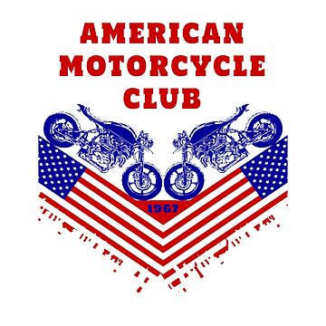 American Motorcycle Club / Motorcycle Sportbike Gift Chopper USA by Rocky2018