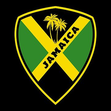 Jamaica coat of arms / national flag flag gift palm tree Caribbean by Rocky2018