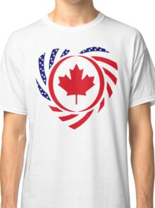 Canadian American Multinational Patriot Flag Series 2.0 Classic T-Shirt