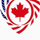 Canadian American Multinational Patriot Flag Series 2.0 by Carbon-Fibre Media