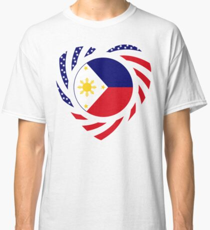 Filipino American Multinational Patriot Flag Series (Heart) Classic T-Shirt