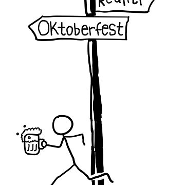 "Funny ""Reality vs Oktoberfest"" Oktoberfest Design by EireShirts"