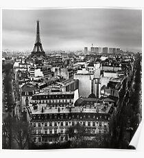 Paris cityscape II Poster