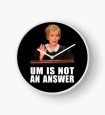 Um is Not an Answer - Black background Clock