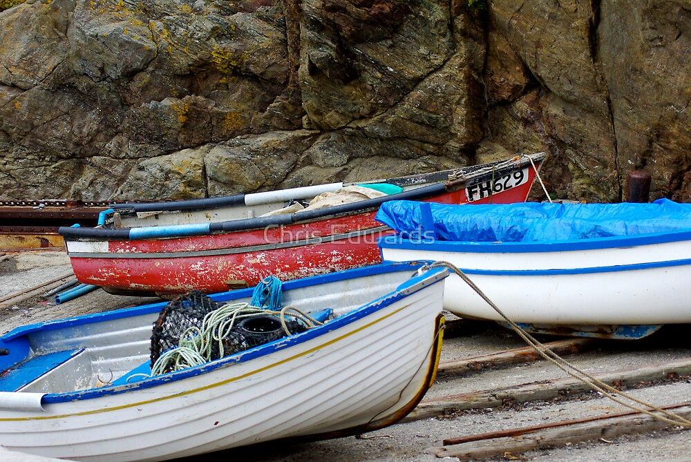 Boats @ The Lizard by Chris Edwards