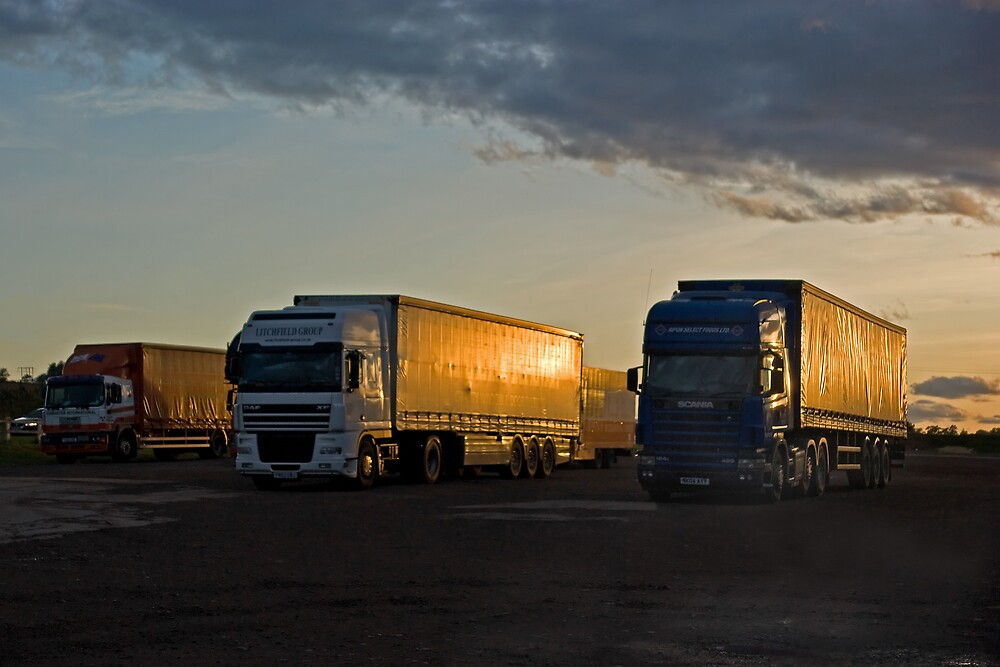 Sleeping Trucks by Panalot