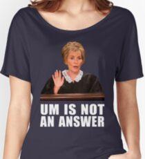 Ähm ist keine Antwort - Schwarzer Hintergrund Loose Fit T-Shirt