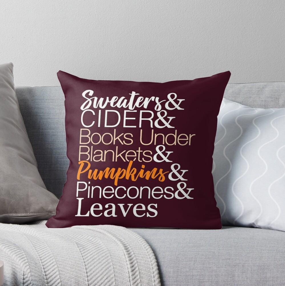 Herbstliste T-Shirt für den Herbst Dekokissen