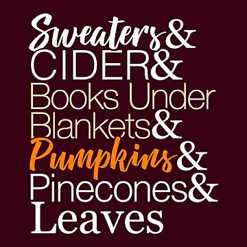 Fall List T-Shirt for Autumn by BootsBoots