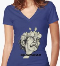 Gearhead  Women's Fitted V-Neck T-Shirt