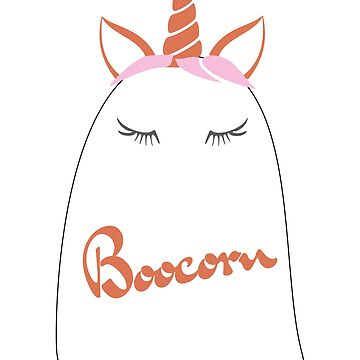 Boocorn Boo Unicorn Ghost Halloween Costume for kids by peter2art