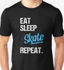 EAT SLEEP SKATE - 2 T-shirt unisexe