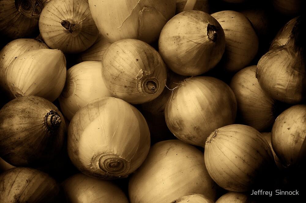 Onions aged sepia by Jeffrey  Sinnock