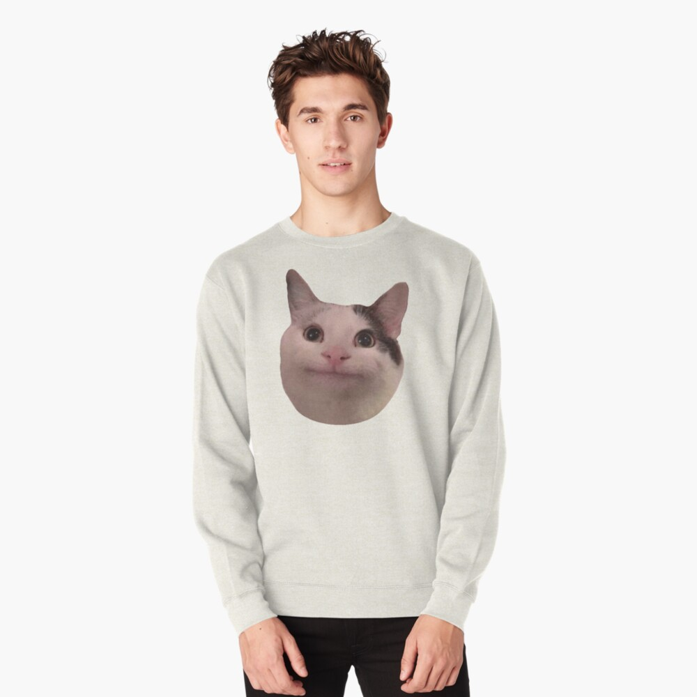 Polite Kitty Pullover Sweatshirt