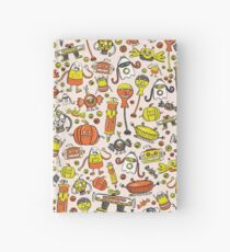 Monster Halloween Candy Bots in Orange, Yellow, Black, & Gray  // Fall Holiday Themed Candy Shaped Robots // Nerdy Halloween Hardcover Journal