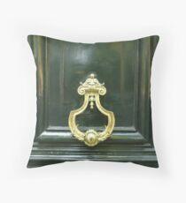 Golden Doorknocker Throw Pillow